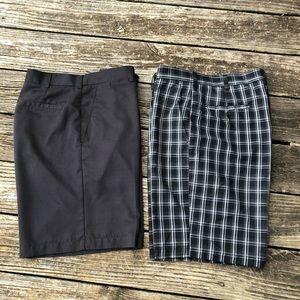 PGA Tour mens golf shorts bundle- wicking-size 34